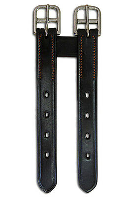 Girth Extender English Double Point Black Leather - NEW  Imp USA