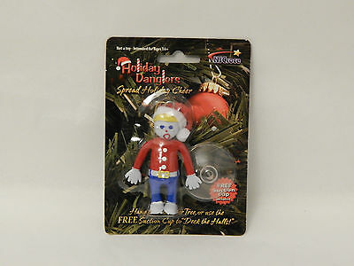 Mr.Bill Christmas Tree Ornament / Window Cling Bendable Holiday Dangler Suction