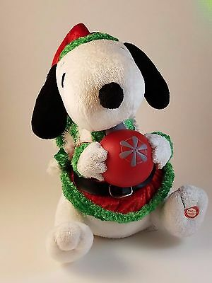 Snoopy Holiday Animated Musical Plush Gemmy Industries