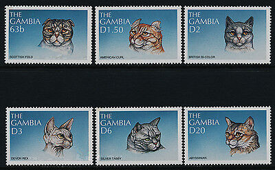 Gambia 1959-64 MNH Cats