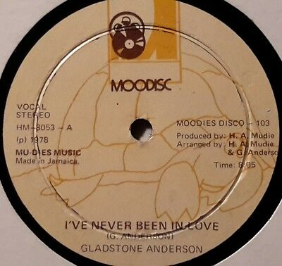 """moodisc12"""" single - I'VE NEVER BEEN IN LOVE - GLADSTONE ANDERSON"""