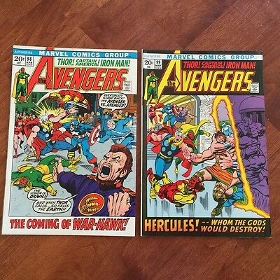1972 Bronze Age AVENGERS Comic  Issues #98, 99  Barry Smith Artwork