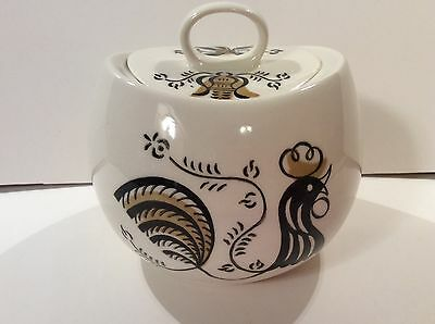 Good Morning by Royal 1950's Rooster Sugar Bowl with Lid