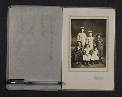 Old Antique Vintage Japanese Photo authentic , the little kid