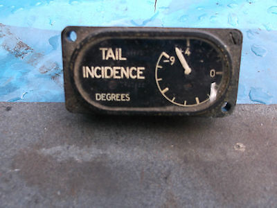 raf 1950s aircraft  instrument  tail incidence degrees