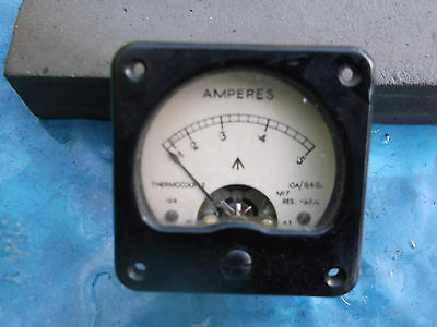 ww2 raf ampmeter nice condition white face type
