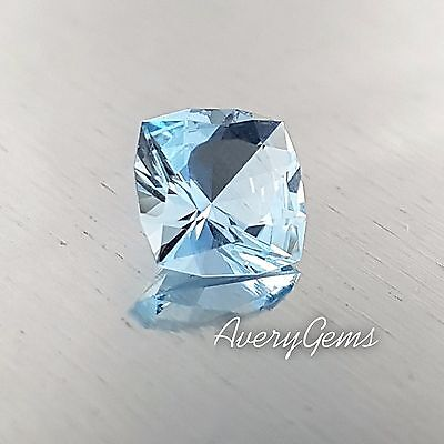 Aquamarine Loose Gemstone Natural 1,3 Ct Precious Gem Precision Cut By AverGems