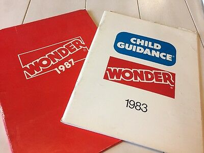 Lot Of 2 Vintage 1980s Wonder Toy Dealer Catalogs - Hello Kitty Fold Out- Sesame