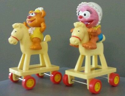 McDonalds Muppet Babies Figures * Vintage 1986 Happy Meal Toys * Set of 2