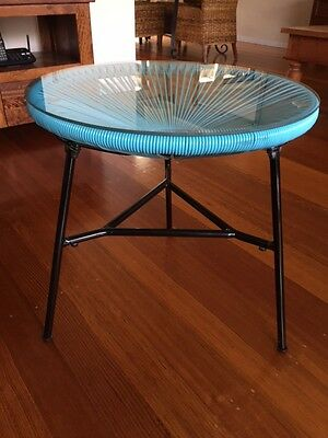 Aqua Outdoor table with glass top