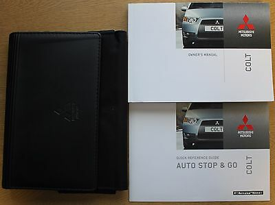Mitsubishi Colt Handbook Owners Manual 2008-2012 Wallet Pack 12815