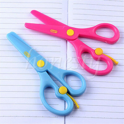Safety Scissors Paper Cutting Plastic Scissors Kids Handmade Toys Drawing Gift