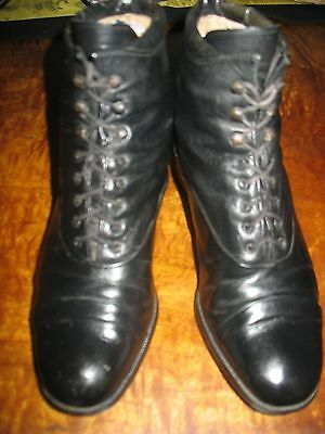 Vintage Style Gabor Leather Lace Up Ankle Boots US 6