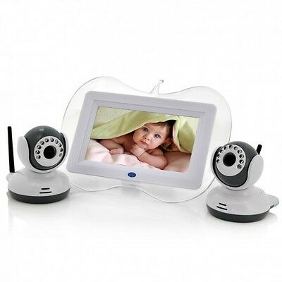 7 Inch 2.4GHz Digital Wireless Baby Monitor + Camera Set - Night Vision Camera,