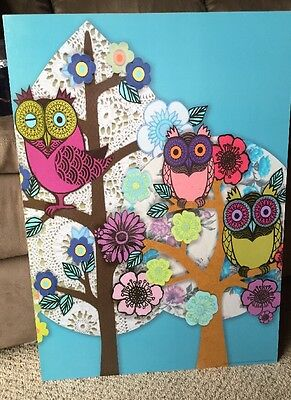 Old Stock 1999 IKEA Owl Wall Art Picture Decor Carb P2 1142 Solmyra PGQ 15246