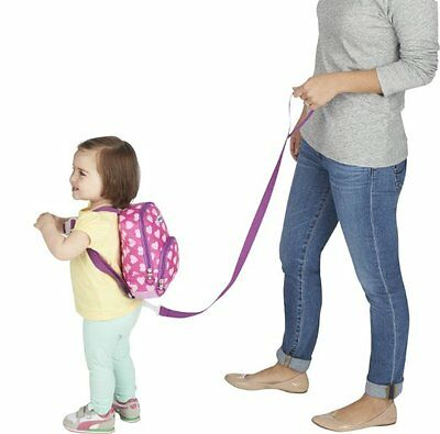 Toddler Backpack With Harness Safety Child Leash Girl Walking Travel Pink Nuby