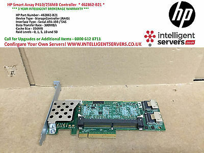 HP Smart Array P410/256MB Controller High Profile ** P/N 462862-B21 **