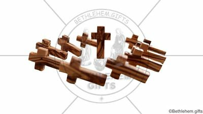 100 OLIVE WOOD Crosses Small Genuine BETHLEHEM wooden HOLY LAND