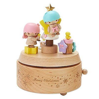 Little Twin Stars wooden music box Christmas