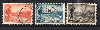 1934 Cent Victoria Perf 10 1/2 Set Used (A70)