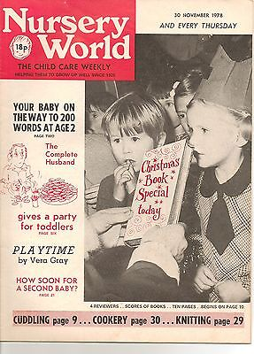 Nursery World Mag November 1978 Excellent Condition  37 Yrs Old