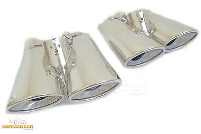 Exhaust Tips Muffler Tail Pipe 2X2 Set Amg Sport For Mercedes W220 S-Class