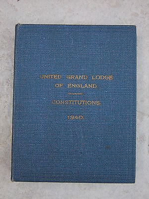 Constitutions of the United Grand Lodge of England - 1940 Pocket Hardback Book