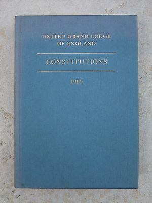 Constitutions of the United Grand Lodge of England - 1965 Pocket Hardback Book