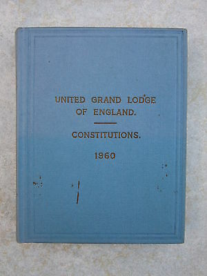Constitutions of the United Grand Lodge of England - 1960 Pocket Hardback Book