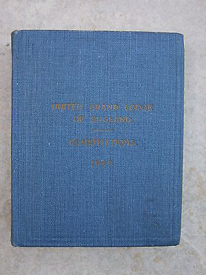 Constitutions of the United Grand Lodge of England - 1947  Pocket Hardback Book