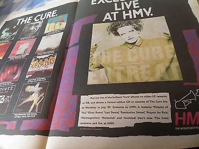 """THE CURE """""""" 1990  ADVERT double PAGE A2  ADVERT fiction label 12 albums in color"""