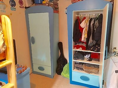 Ikea Children's Wardrobe And Chest Of Drawers Blue