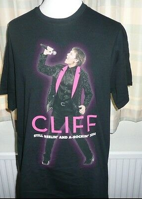 Cliff Richard Still Reelin' And a - Rocking LARGE Tour 2014 T Shirt BNWOT