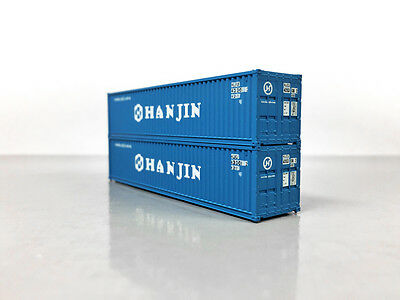 KATO 40' CONTAINER PAIR HANJIN MAXI I GUNDERSON N Scale