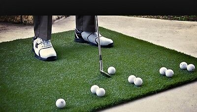 large Golf Training Practice Astro Turf Mat Driving Pitching Putting