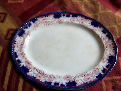 Large Old Doulton Burslem Melrose Oval Serving Plate