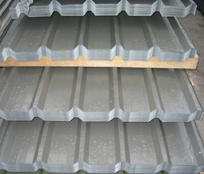 ROOFING SHEETS GALVANISED BOX PROFILE 12ft X 3ft (APPROX) FREE DELIVERY.