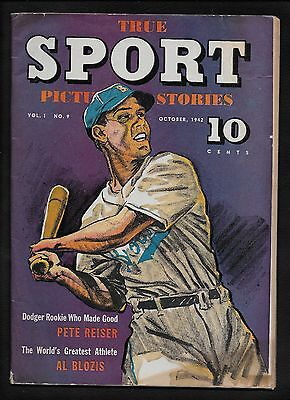 True Sport Picture-Stories #9 October 1942 Babe Ruth - 10c Comic Book
