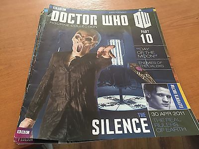 DOCTOR DR WHO EAGLEMOSS 3 X FIGURINE COLLECTION MAGAZINE - ISSUES 10,11 and 14
