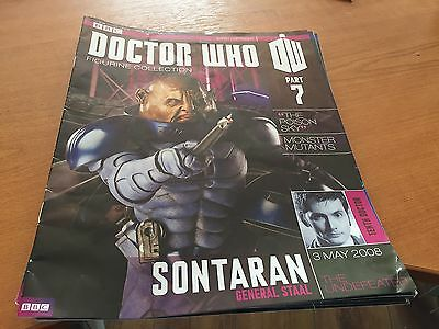 DOCTOR DR WHO EAGLEMOSS 3 X FIGURINE COLLECTION MAGAZINE - ISSUES 7,8 and 9