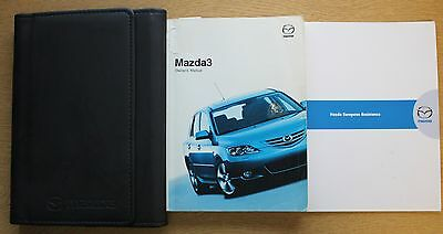 Mazda 3 Handbook Owners Manual Wallet 2003-2006 Pack 11520