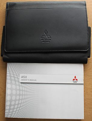 Mitsubishi Asx Handbook Owners Manual Wallet 2012-2016 Pack 11481