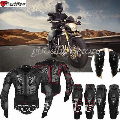 Motorcycle Motorcross Racing Full Body/Knee Armor Spine Chest Protective Jackets