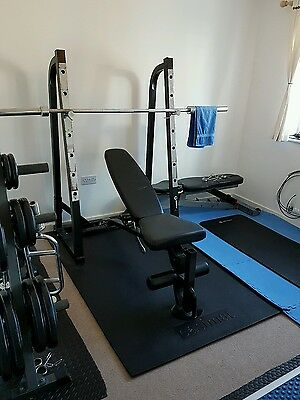 Olympic home gym set up