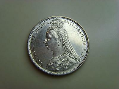 1887 Silver Sixpence Queen Victoria British Coin Great Britain Six Pence