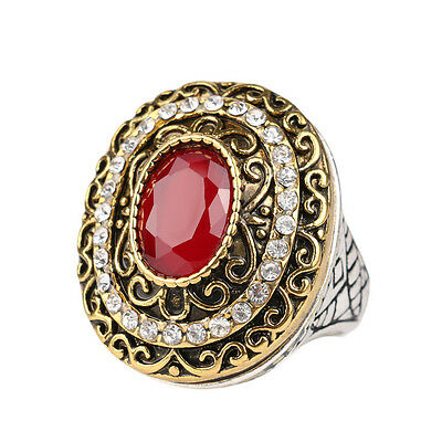 Vintage French Style Romantic Rustic Gold Plated Women's CZ Resin Fashion Rings!