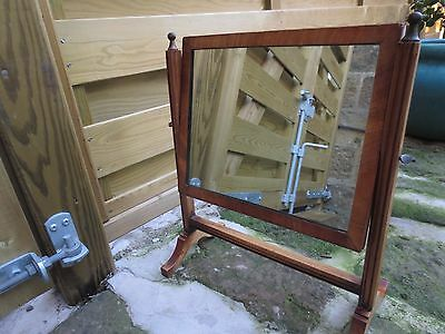 Edwardian Wood Vanity Mirror Dressing Table Shaving Mirror c1920s