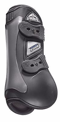 Veredus Olympic Double Density Tendon Boots with Elastic Straps Black - Large