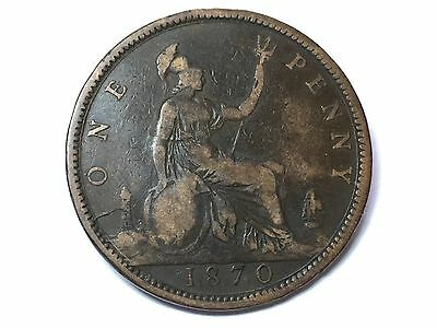1870 Victoria One Penny
