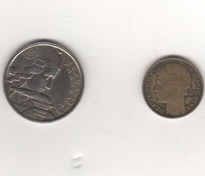 1932 & 1955 French coins.